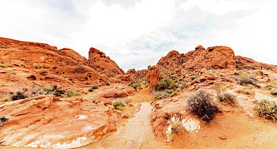 Desert Photograph - Valley Of Fire State Park Panorama by Daniel Shumny