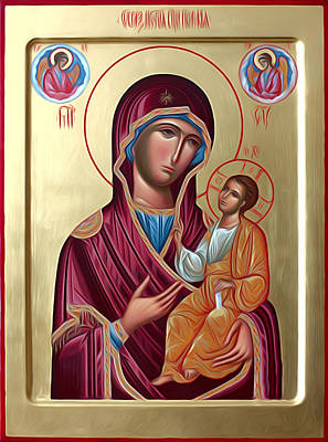 Virgin And Child Painting Print by Christian Art