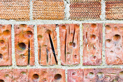 Abstract Photograph - Brick Wall by Tom Gowanlock