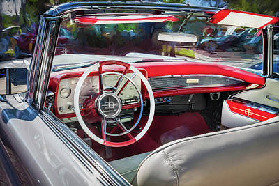 1959 Lincoln Continental Town Car Mk Iv Painted  Print by Rich Franco