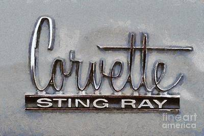 Collectible Painting - 1966 Chevrolet Corvette Sting Ray 427 Turbo-jet by George Atsametakis