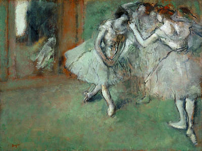 Edgar Degas Painting - A Group Of Dancers by Edgar Degas