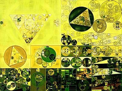 Abstract Painting - Black Bean Print by Vitaliy Gladkiy
