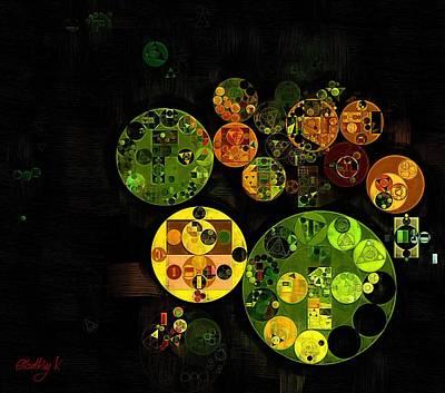 Fanciful Digital Art - Abstract Painting - Black by Vitaliy Gladkiy