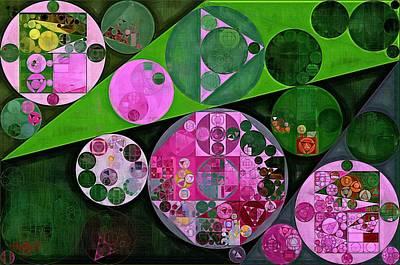 Abstract Painting - Dark Jungle Green Print by Vitaliy Gladkiy