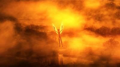 Xfiles Digital Art - Alien Angel By Raphael Terra by Raphael Terra