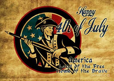 American Revolution Soldier General  Print by Aloysius Patrimonio