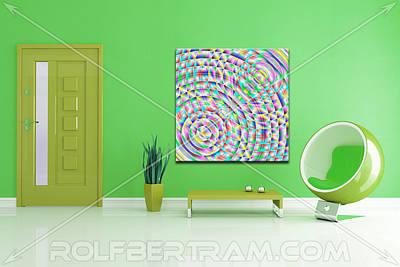 An Example Of Modern Art By Rolf Bertram In An Interior Design Setting Print by Rolf Bertram