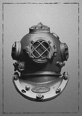 Diving Helmet Digital Art - Antique Divers Helmet by Sandra McGinley