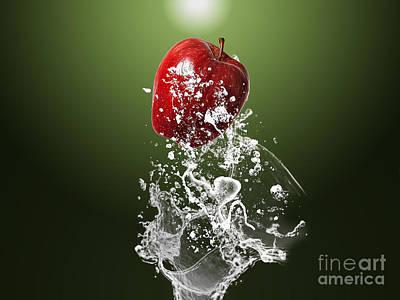 Apples Mixed Media - Apple Splash by Marvin Blaine