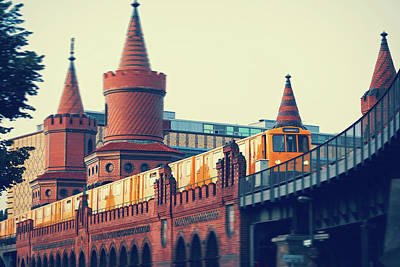 Berlin Photograph - Berlin - Oberbaum Bridge by Alexander Voss