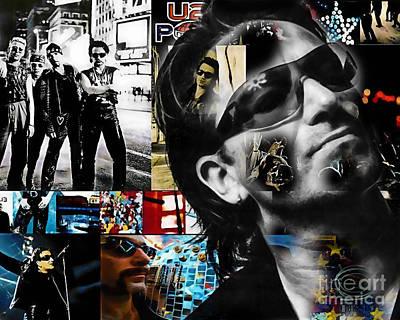 Bono Mixed Media - Bono Collection by Marvin Blaine