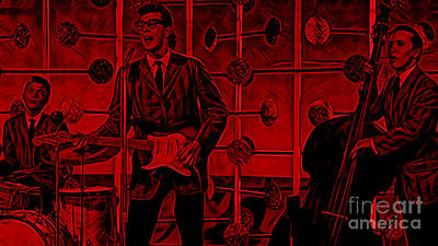 Cricket Mixed Media - Buddy Holly And The Crickets by Marvin Blaine