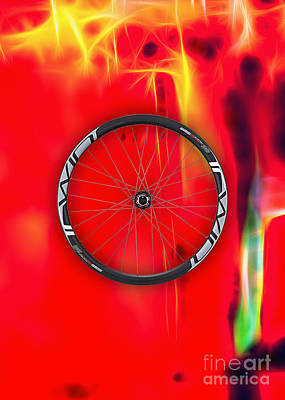 Bicycle Mixed Media - Carbon Fiber Bicycle Wheel Collection by Marvin Blaine