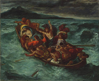 Christ Painting - Christ Asleep During The Tempest by Eugene Delacroix