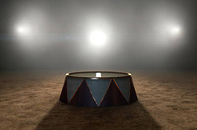 Limelight Digital Art - Circus Ring And Podium  by Allan Swart