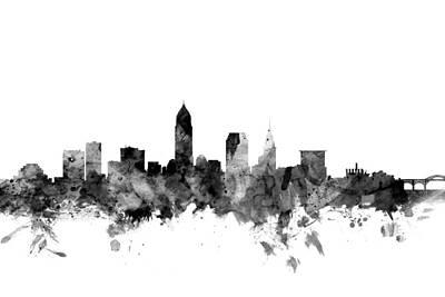 Cleveland Digital Art - Cleveland Ohio Skyline by Michael Tompsett