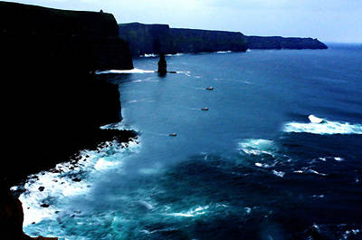 Tourist Attraction Digital Art - Cliffs Of Moher by Aidan Moran