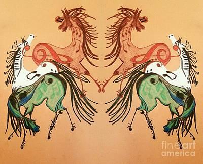 Dancing Musical Horses Original by Scott D Van Osdol