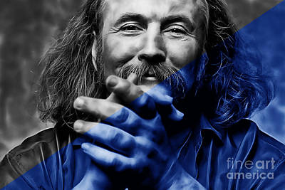 Poster Mixed Media - David Crosby Collection by Marvin Blaine