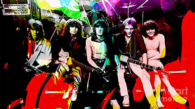 Def Leppard Mixed Media - Def Leppard by Marvin Blaine
