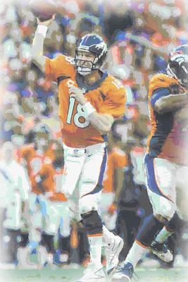 Denver Broncos Peyton Manning Print by Joe Hamilton