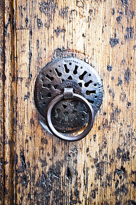 Carving Photograph - Door Handle by Tom Gowanlock