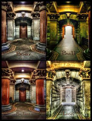 Digital Art - 4 Doors - Philadelphia City Hall by Dan Stone