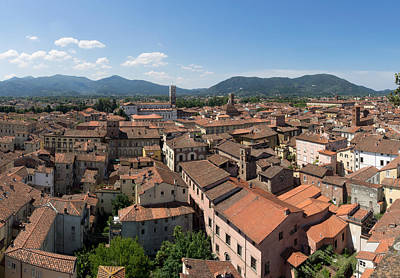 Lucca Photograph - Elevated View Of The City From Torre by Panoramic Images