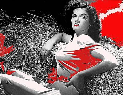 Hurrell Photograph - Film Homage Jane Russell The Outlaw 1943 Publicity Photo Photographer George Hurrell 2012 by David Lee Guss