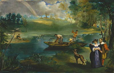 Angling Painting - Fishing by Edouard Manet