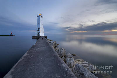Northern Michigan Photograph - Frankfort North Breakwater Lighthouse by Twenty Two North Photography
