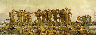 The Great War Painting - Gassed  by John Singer Sargent