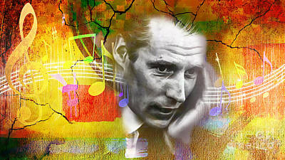 Music Mixed Media - George Martin Collection by Marvin Blaine