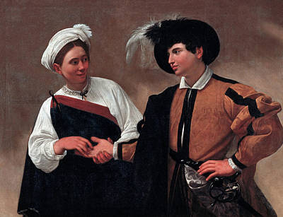 Caravaggio Painting - Good Luck by Caravaggio