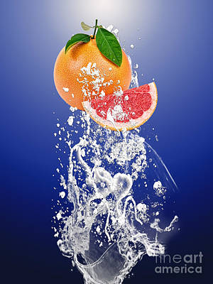 Grapefruit Mixed Media - Grapefruit Splash by Marvin Blaine