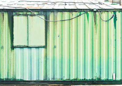 Metallic Sheets Photograph - Green Metal by Tom Gowanlock