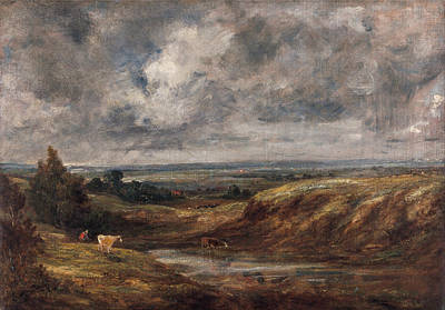 Rustic Painting - Hampstead Heath by John Constable