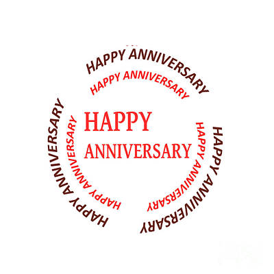Happy Anniversary Text See On Pillows Curtains Duvetcovers Phonecases Greetingcards Tshirts Jersey  Original by Navin Joshi