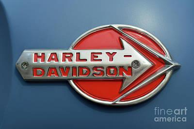 Motorcycles Photograph - Harley-davidson Badge by George Atsametakis