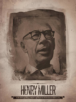 Quote Digital Art - Henry Miller 02 by Afterdarkness