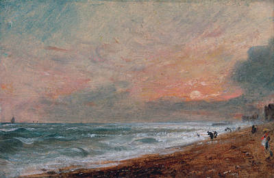 Twilight Painting - Hove Beach by John Constable