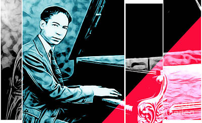 Ragtime Mixed Media - Jelly Roll Morton Collection by Marvin Blaine
