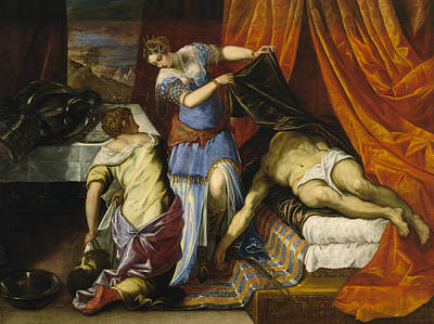 Beheading Painting - Judith And Holofernes by Tintoretto