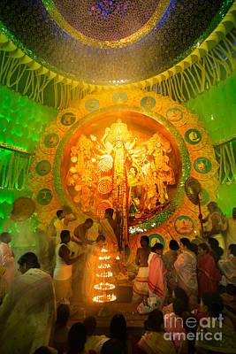 Goddess Durga Photograph - Kolkata India Durga Puja Festival by Rudra Narayan Mitra