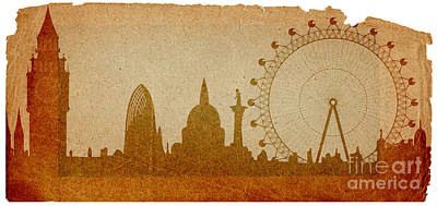 London Skyline Mixed Media - London by Michal Boubin