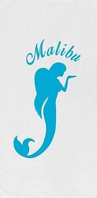 Angel Mermaids Ocean Drawing - Malibu Mer Angels by Chrystyna Wolford