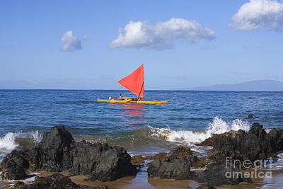 Maui Sailing Canoe Print by Ron Dahlquist - Printscapes