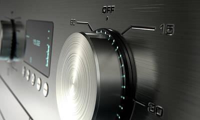 Electrical Digital Art - Modern Washing Machine Closeups by Allan Swart