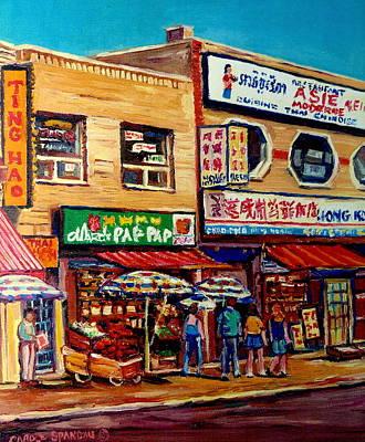 Montreal Paintings Print by Carole Spandau